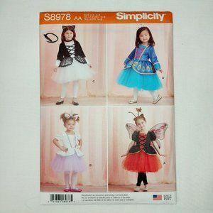 SIMPLICITY SIZES 1/2,1, 2 girls PATTERN 8978 FAIRY